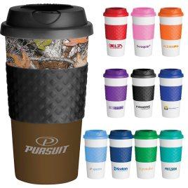 Bonobo- bonobo-Custom bulk, classic reusable coffee cup with twist on lid