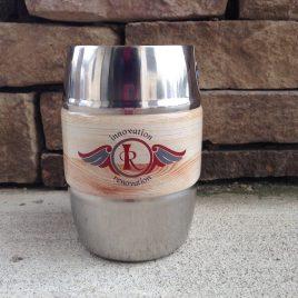 Bull- Bulk Custom Printed 12oz Barrel Mug with Full-Color Digital Wrap