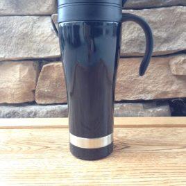 Manatee- Bulk custom printed 16oz stainless steel tumbler mug with handle