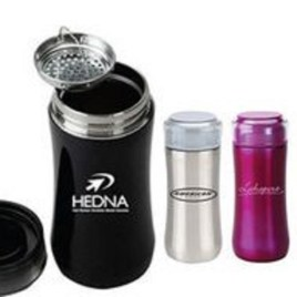 Hawthorne- Bulk Custom Printed 10oz Stainless Vacuum Flask with Tea Strainer