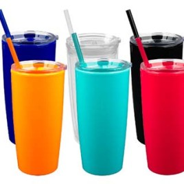Oryx- Bulk Custom Printed 20oz Acrylic Straw Tumbler in Bright Colors