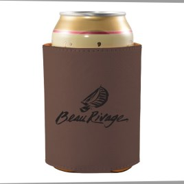 Bulk Custom Engraved Leather Can Coozie