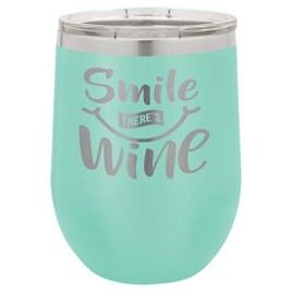 Begonia- Bulk Custom Printed 12oz Stainless Steel Stemless Wine Glass