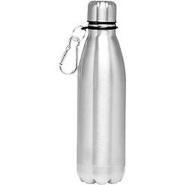Hiking - Bulk Custom Printed 26oz Stainless Water Bottle with Lid and Carabiner