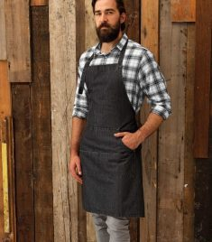 Jeans Stitch Denim Bib Apron