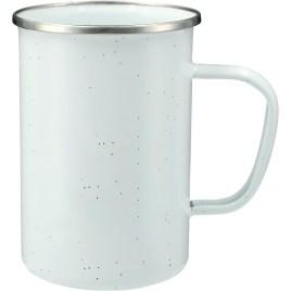 bulk custom printed 22oz speckled camp mug with stainless rim