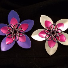 Chainmaille Pendant Flower