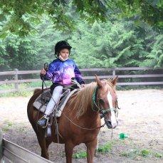 masked horse rider