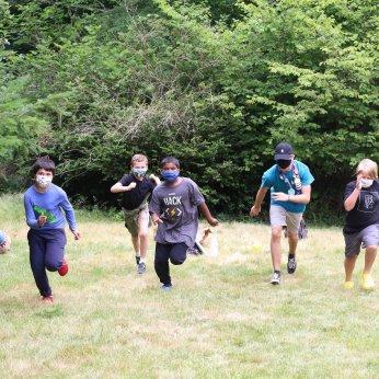 Masked Running Campers