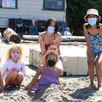 Masked Beach Girls