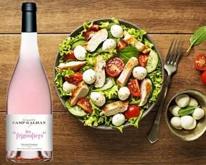 Frigouliers Rosés & Salade de Saison