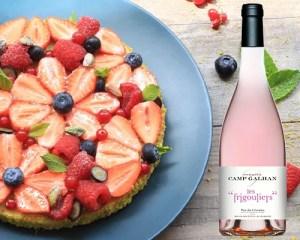 Frigouliers Rosés & Tarte aux Fruits