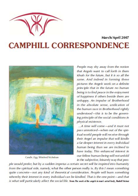 Camphill Correspondence March/April 2007