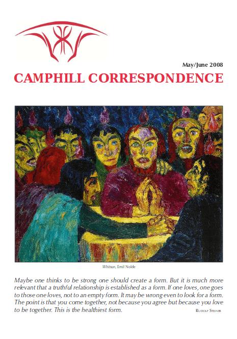 Camphill Correspondence May/June 2008
