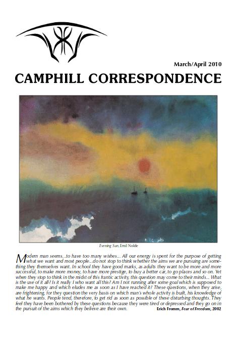 Camphill Correspondence March/April 2010