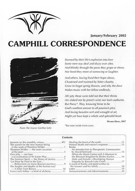 Camphill Correspondence January/February 2002