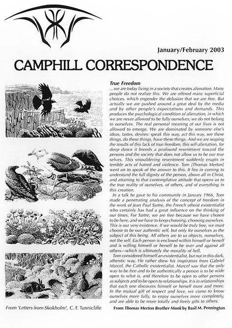 Camphill Correspondence January/February 2003
