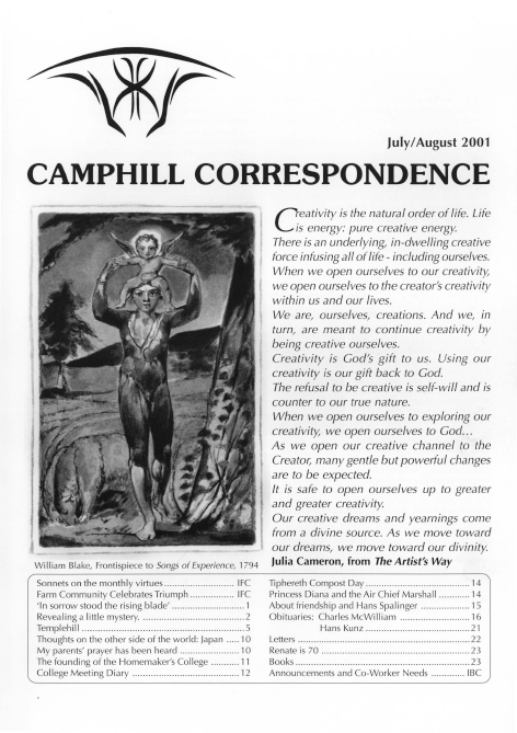 Camphill Correspondence July/August 2001