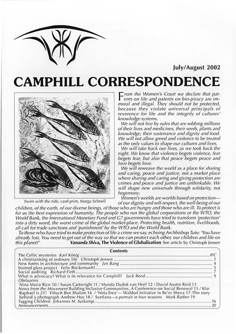 Camphill Correspondence July/August 2002
