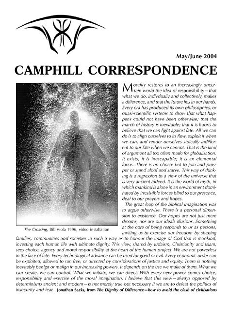 Camphill Correspondence May/June 2004