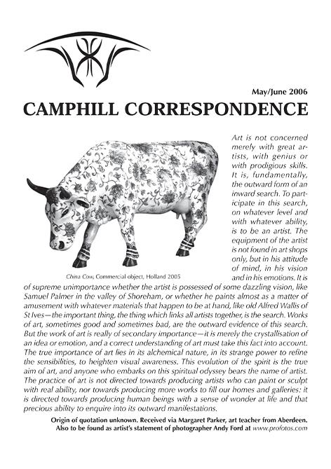 Camphill Correspondence May/June 2006