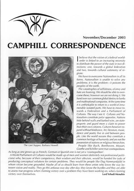 Camphill Correspondence November/December 2003