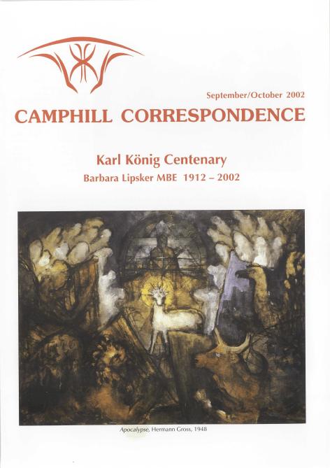 Camphill Correspondence September/October 2002