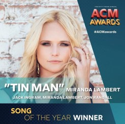 "Miranda Lambert wins 2018 ACM Song of the Year with ""Tin Man"""
