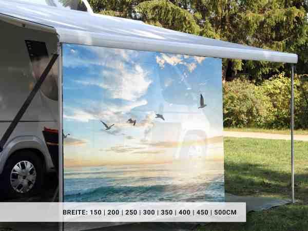 Camping Markisen Sichtschutz mit Motiv Seemöwen