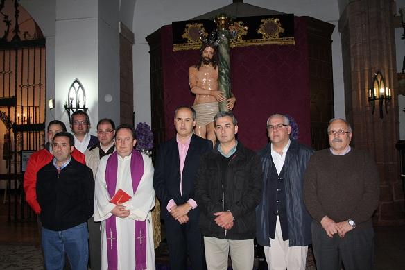 La Cofradía de la Vera Cruz expone el 'Cristo de la Columna' tras su restauración