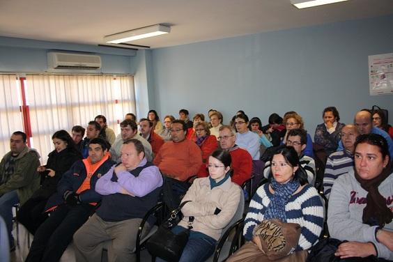 Personas asistentes en Andújar a este acto por el Día Internacional de las Personas con Discapacidad.