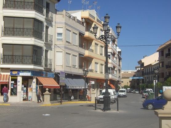 Histórica zona de La Farola en Porcuna.