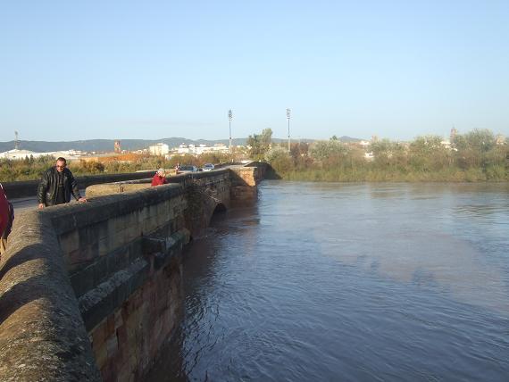 Un aspecto del Puente Romano de Andújar en el día de ayer.