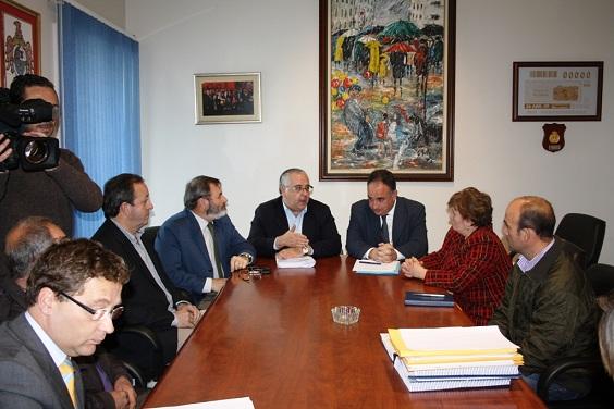 El presidente de la CHG en el encuentro mantenido con el alcalde de Andújar.