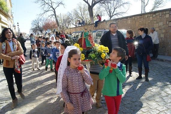 Una imagen de la Semana Santa Chica de Lopera.