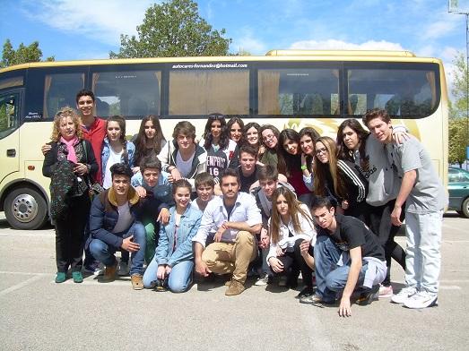Alumnos representando al IES Jándula, de Andújar.