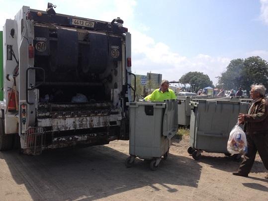 Recogida de basura en los puntos limpios ubicados en Andújar.