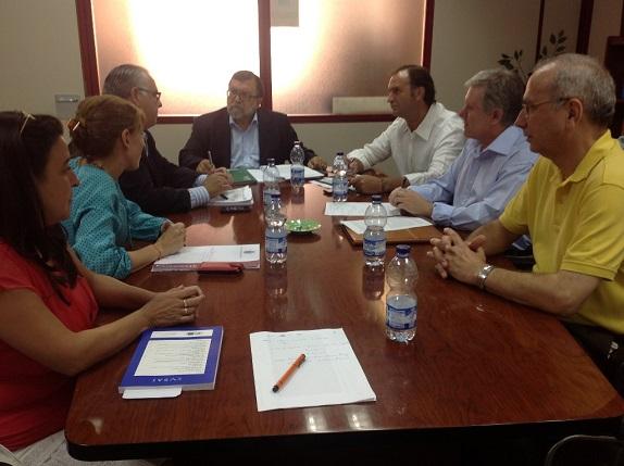 Reunión mantenida en Jaén entre el Delegado de Cultura, José Ángel Cifuentes, y el alcalde de Andújar.