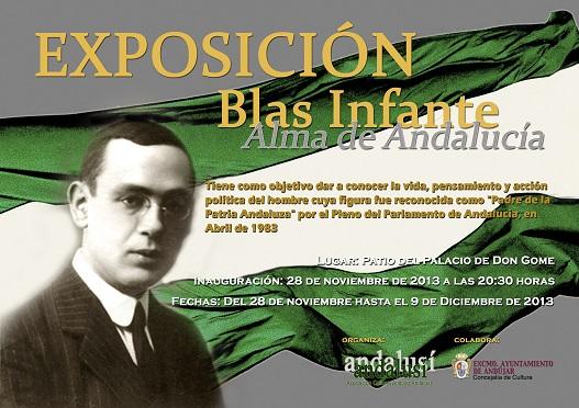 Cartel de la exposición dedicada a Blas Infante en Andújar.
