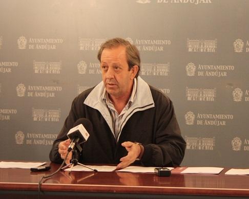 El portavoz del Gobierno Municipal de Andújar, Francisco Carmona.