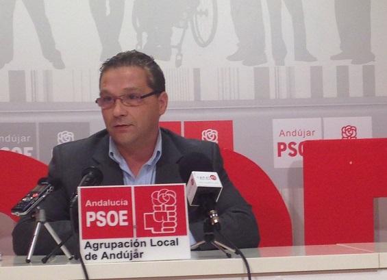 El portavoz del Grupo Municipal Socialista de Andújar, Francisco Huertas.
