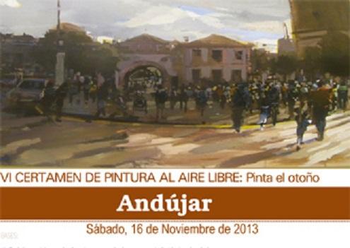 Cartel del VI Certamen de Pintura al Aire Libre: Pinta el Otoño.