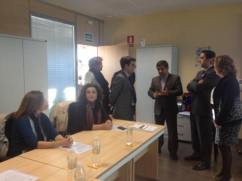 Visita a las instalaciones de CLECE  por parte de Francisco Reyes.