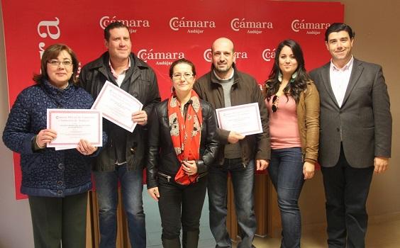 Premiados en el XX Concurso de Escaparates de Andújar.