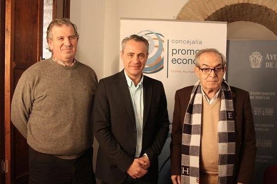 Javier Camello, Joaquín Luque y Eduardo Criado.