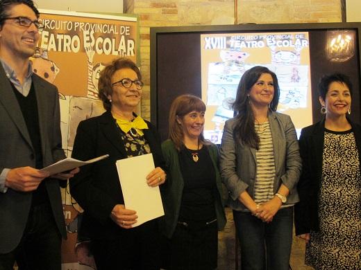 Serrano, Espín, Olivares, Caballero y Gámez, en la presentación de esta actividad.