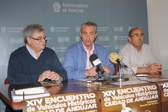 Acto de presentación del XIV Encuentro de Vehículos Históricos de Andújar.