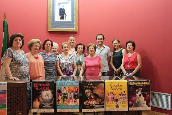 Acto de presentación en Andújar del Festival Esphera Teatro 2014.