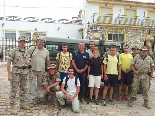 El Ejército de Tierra visita distintos lugares de Andújar.