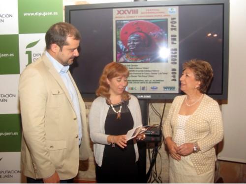 Nestares, Olivares y Ortega, durante la presentación del festival.